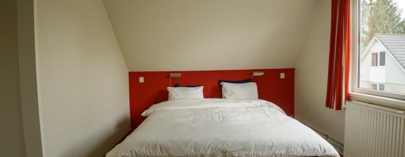 slaapkamer boven vakantiehuis landgoed ruwinkel